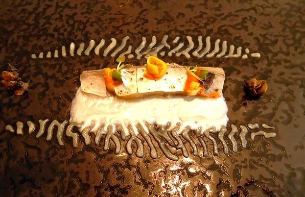 Mackerel with pickles and mullet roe at El Celler de Can Roca