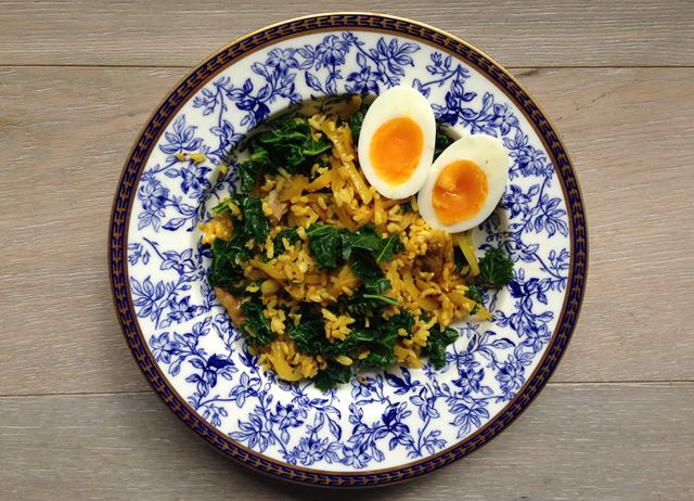 Mackerel and brown rice kedgeree