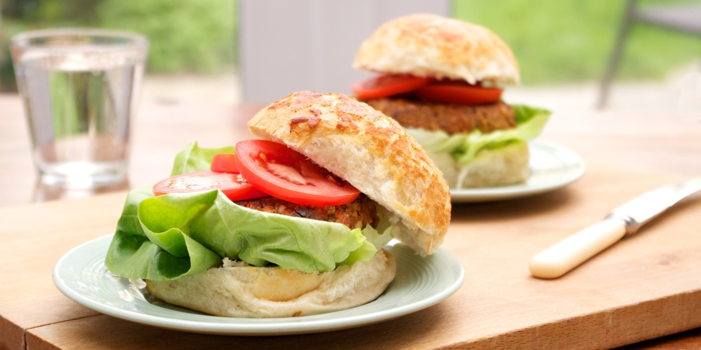 Quorn, chickpea and mushroom burgers