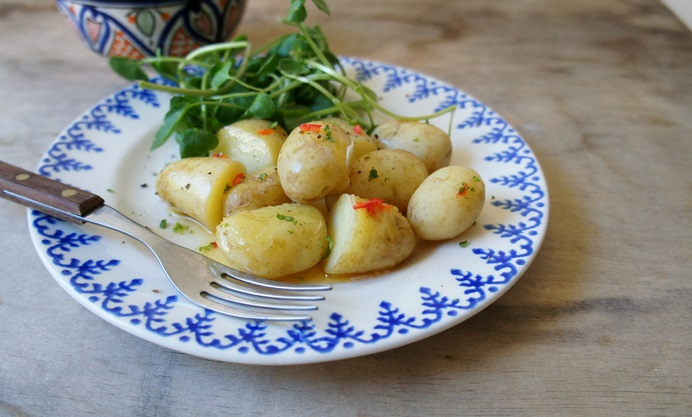 Pembrokeshire Early new potatoes with chilli and lime butter