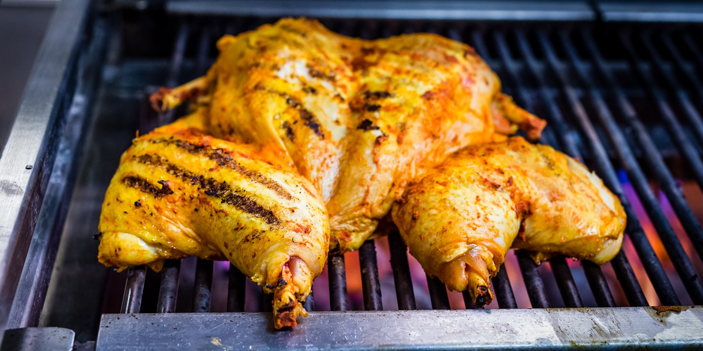 Summer marinated spatchcock chicken