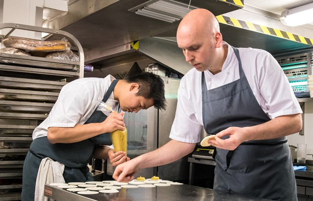Chef Feliz Zhou from the Parker in Vancouver with Matty Bowling of Terre a Terre for ICEx
