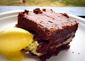 The Quality Chop House brownie