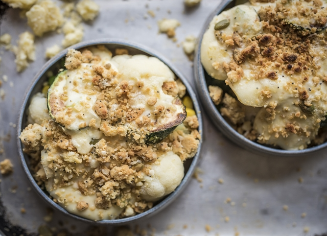 Autumn vegetable crumble