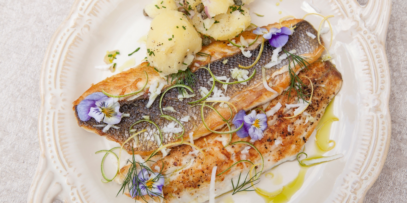 Pan Fried Sea Bass Recipe With Lemon Verbena Great