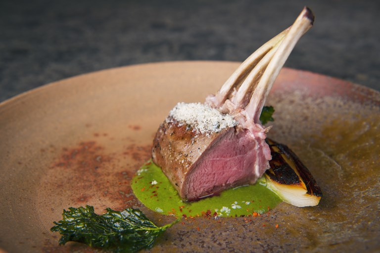 Stilton Leeks And Rack Of Lamb Recipe Great Italian Chefs