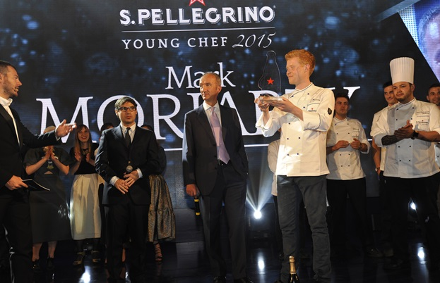 Mark Moriarty winning the S.Pellegrino Young Chef 2015