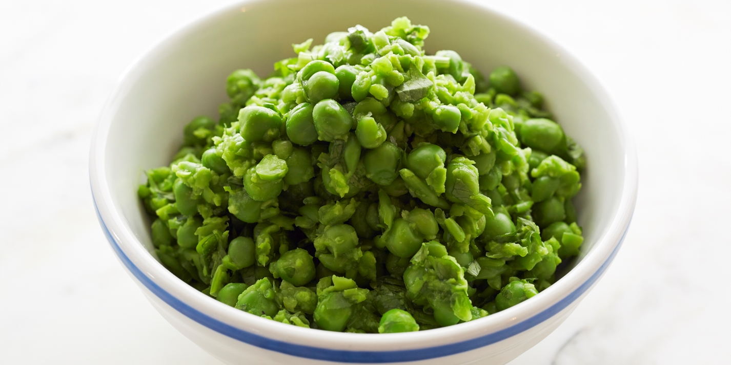 Crushed minted peas recipe