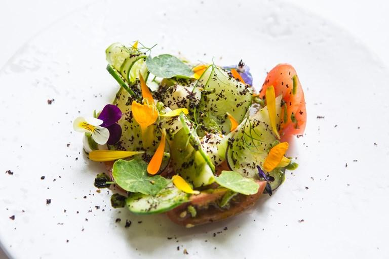 Ricotta And Garden Salad Recipe Great British Chefs