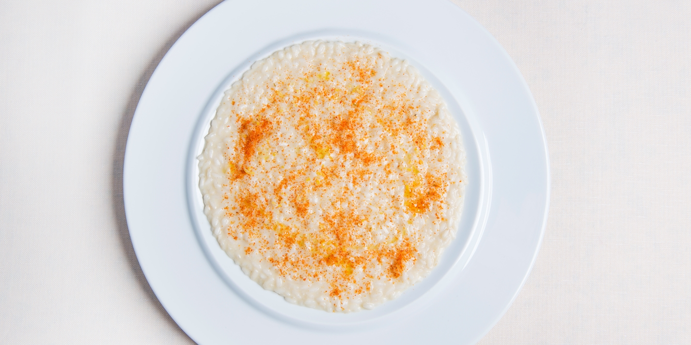 Risotto with garlic and chilli