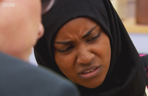 Nadiya is disgusted at her soggy bottom