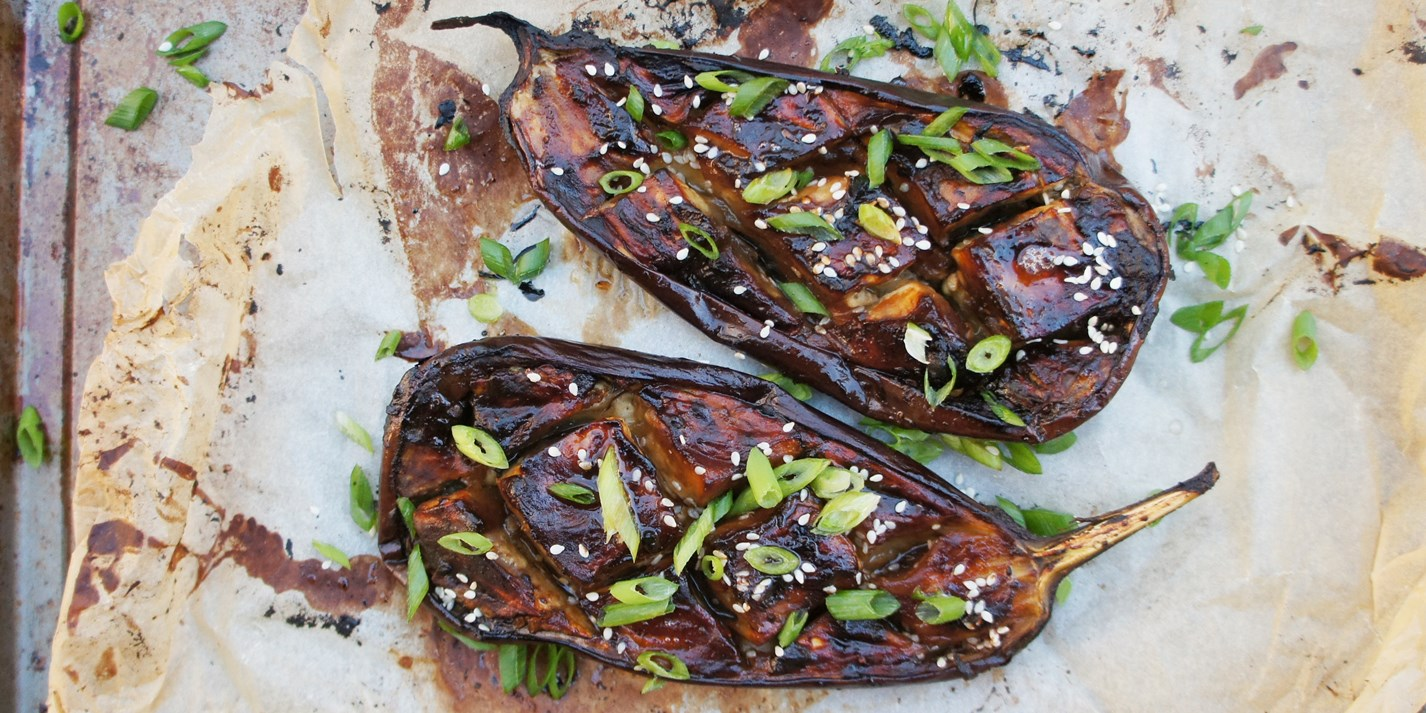 Miso and Honey Marinated Aubergine Recipe - Great British Chefs