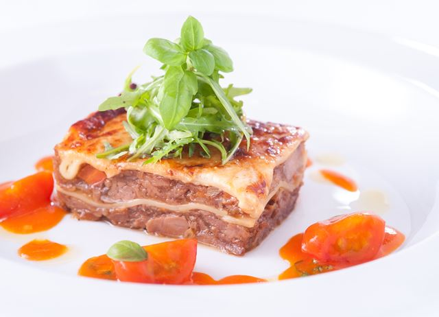 Pig cheek lasagne