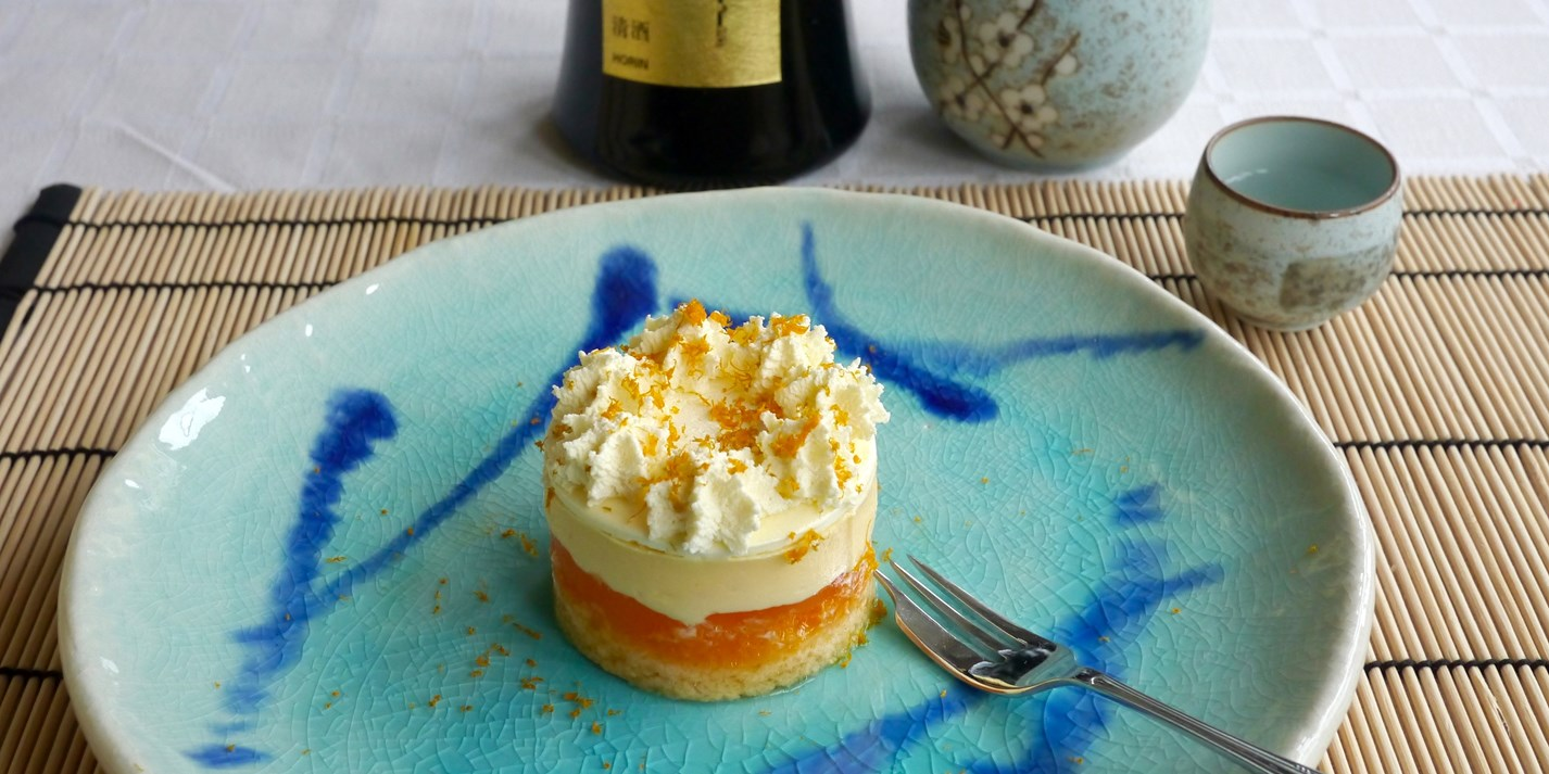 Mandarin and Sake Trifle