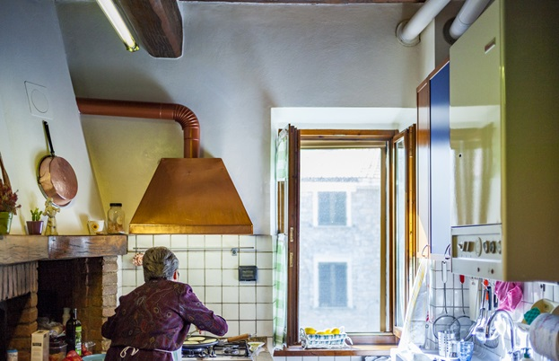 Adriana Salsi in her amazing kitchen