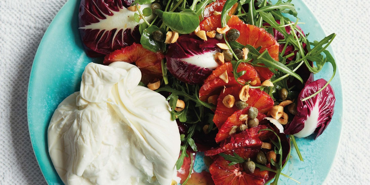 Burrata and blood orange recipe