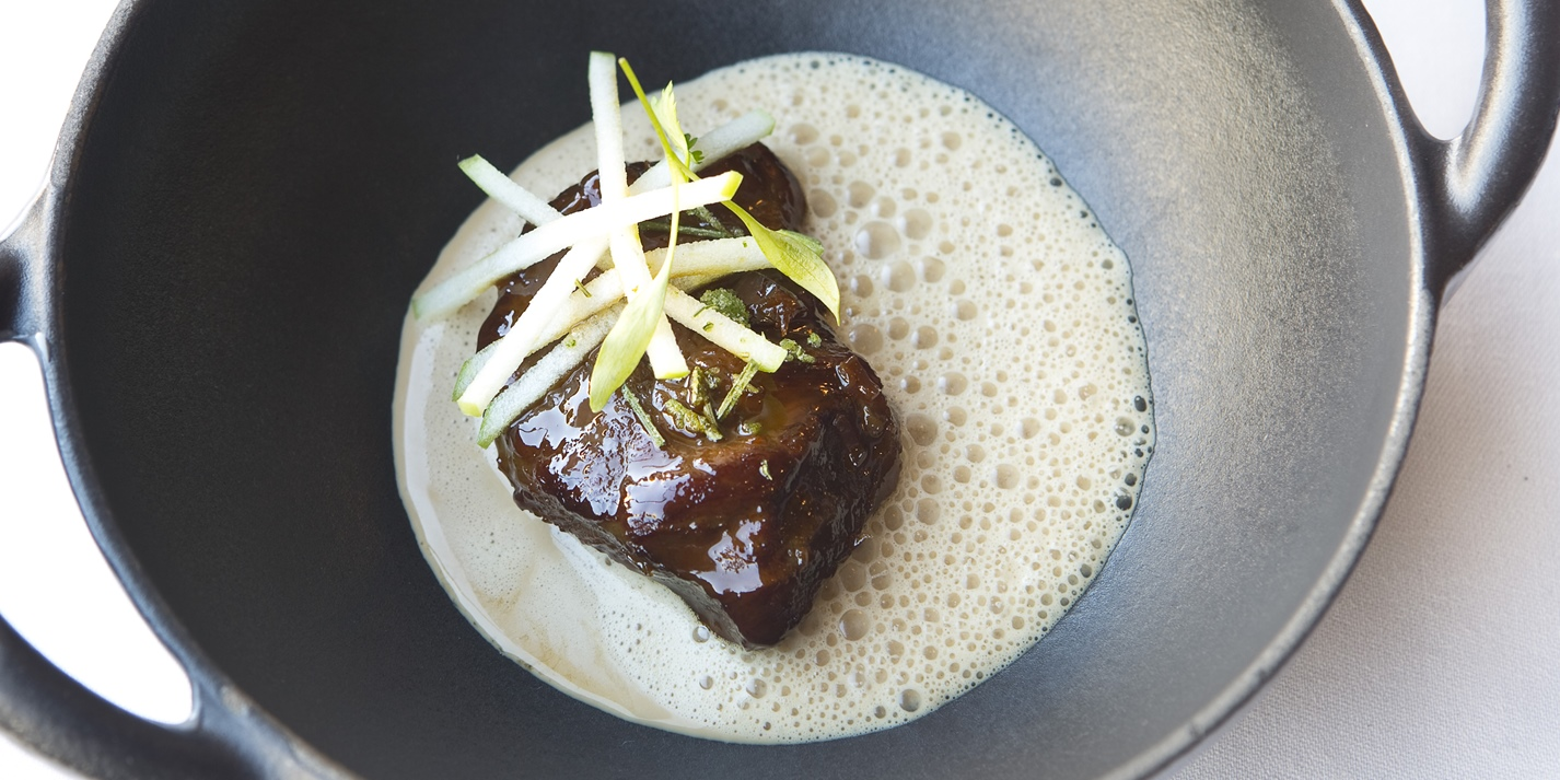 Braised Pig Cheek with Lobster Bisque Recipe - Great ...