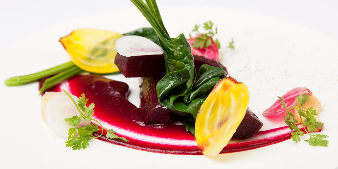 Beetroot with pickled quince