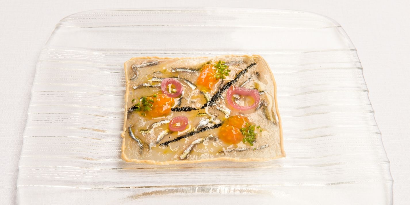 Anchovy with bottarga mayonnaise recipe