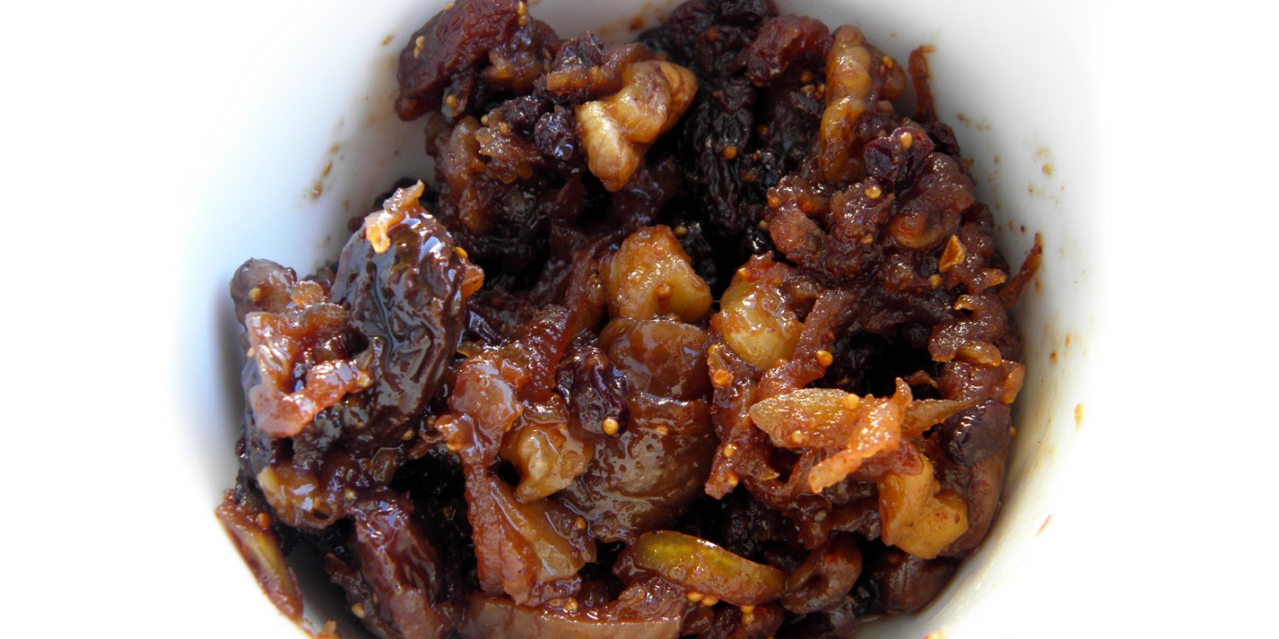 Fig, apple and walnut mincemeat with calvados