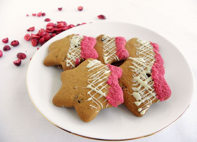 Cranberry and white chocolate Christmas biscuits