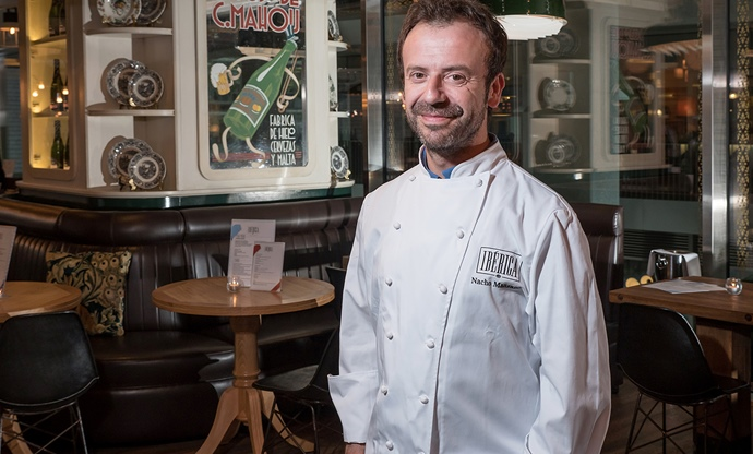 Nacho Manzano in one of his UK-based Ibérica restaurants