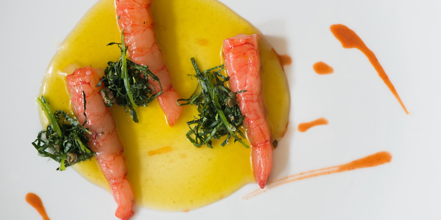 how to serve prawns as a starter