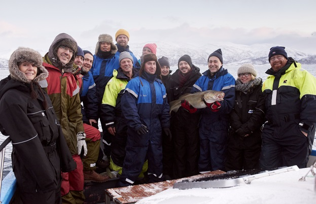 Some of the UK's best chefs enjoying a day of Skrei fishing