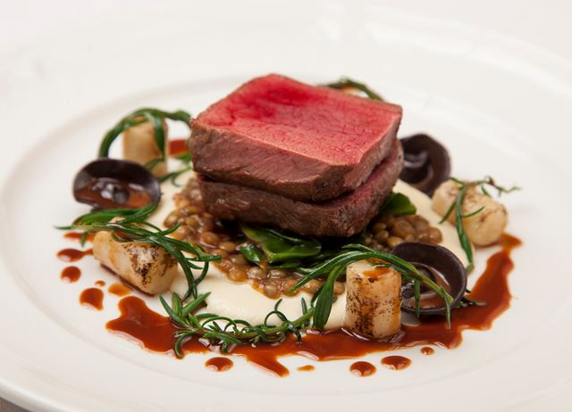 Fallow venison, salted baked celeriac and chocolate tortellini