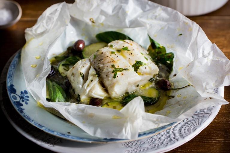 Skrei Cod En Papillote Recipe Great British Chefs