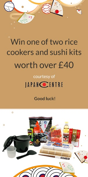 Win one of two rice cookers and sushi making kits