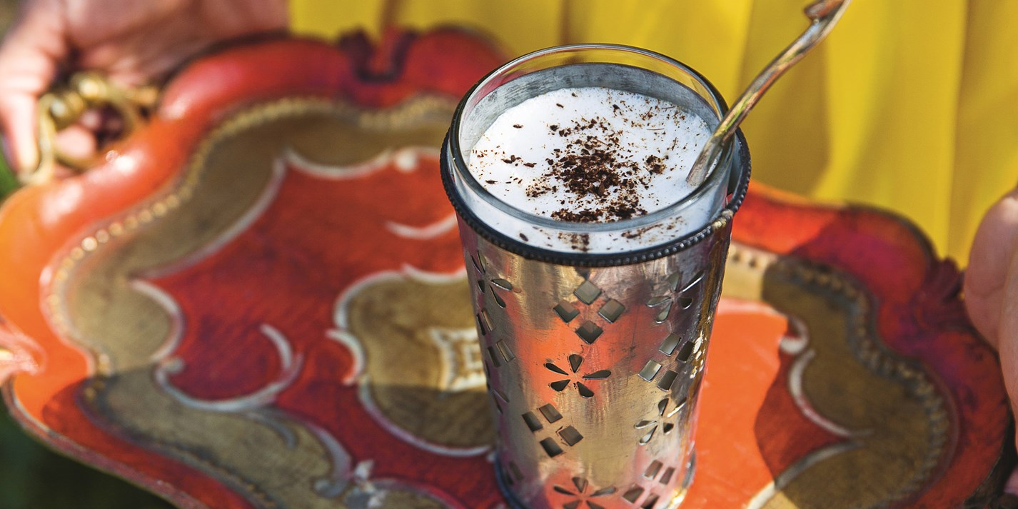 Salty lassi with cumin