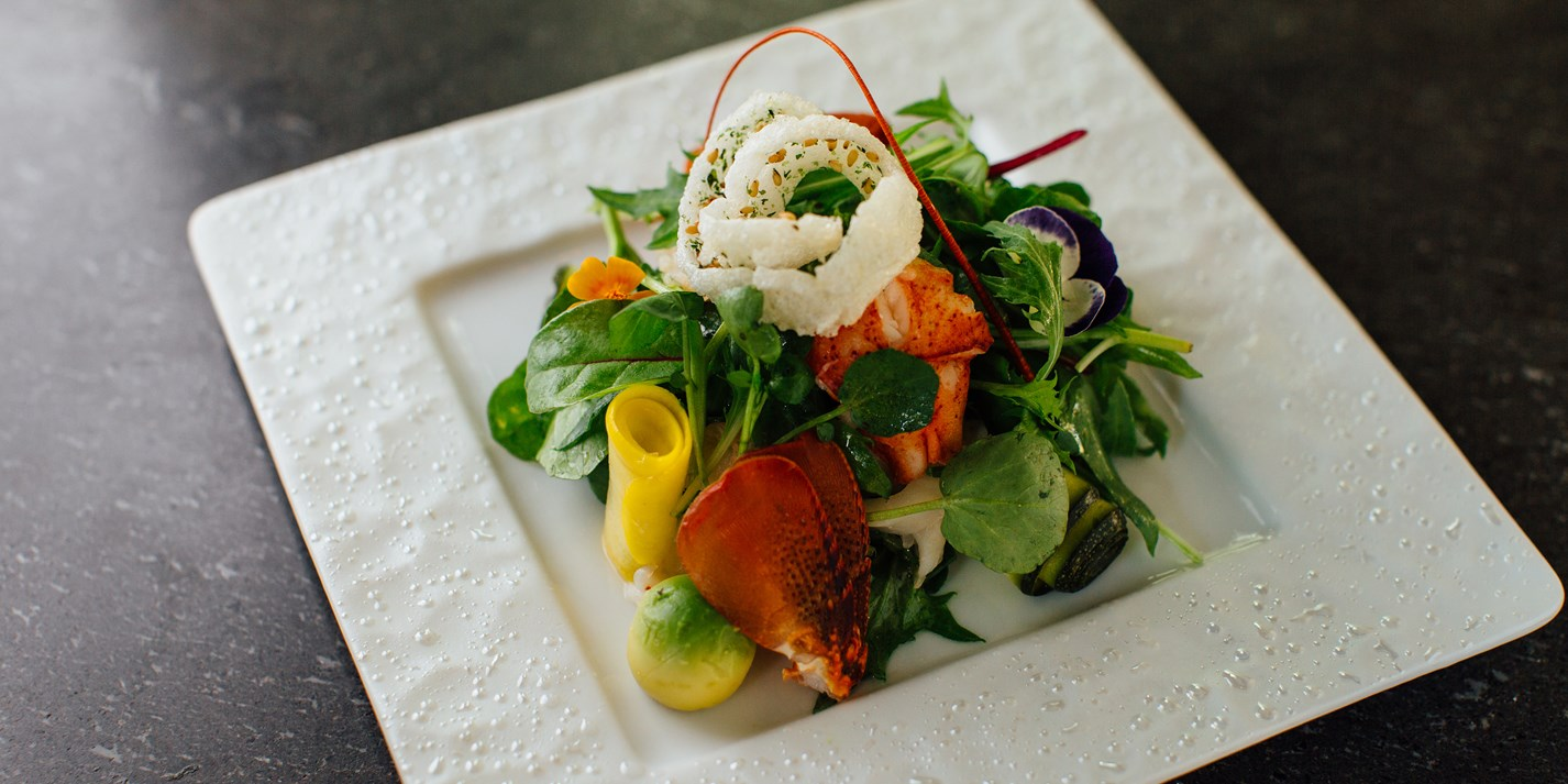Lobster wa salad with yuzu dressing