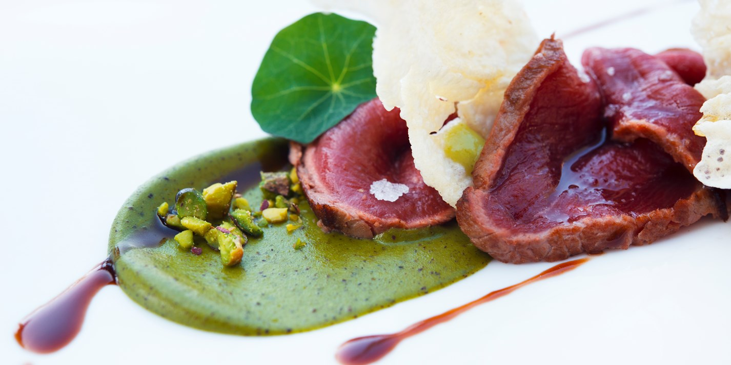 Seared Venison Recipe With Pistachio Lemon Honey And
