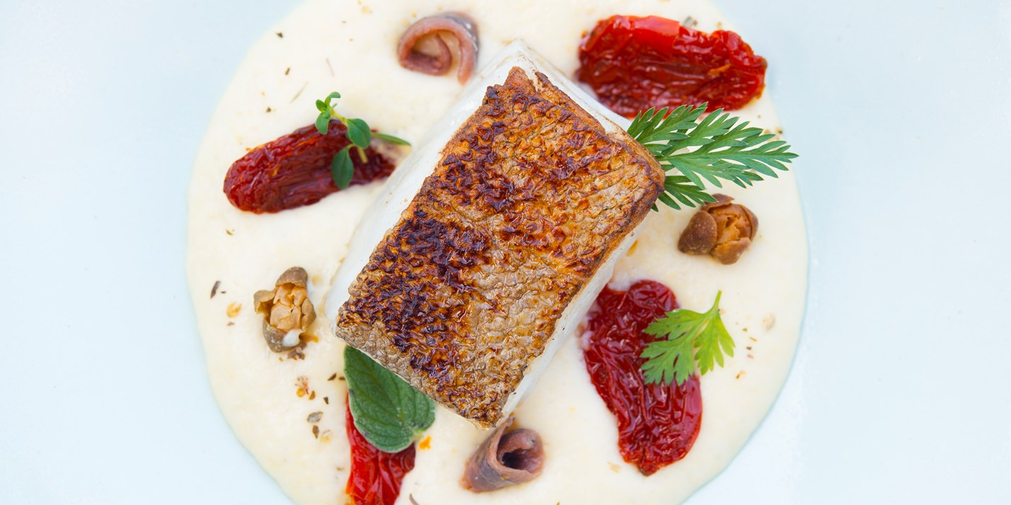 Pan fried cod fillet recipe with polenta mousse great for Pan fried fish fillet recipes