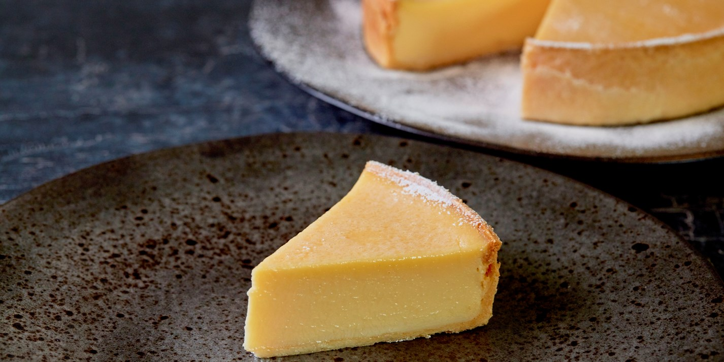 Lemon and passion fruit tart