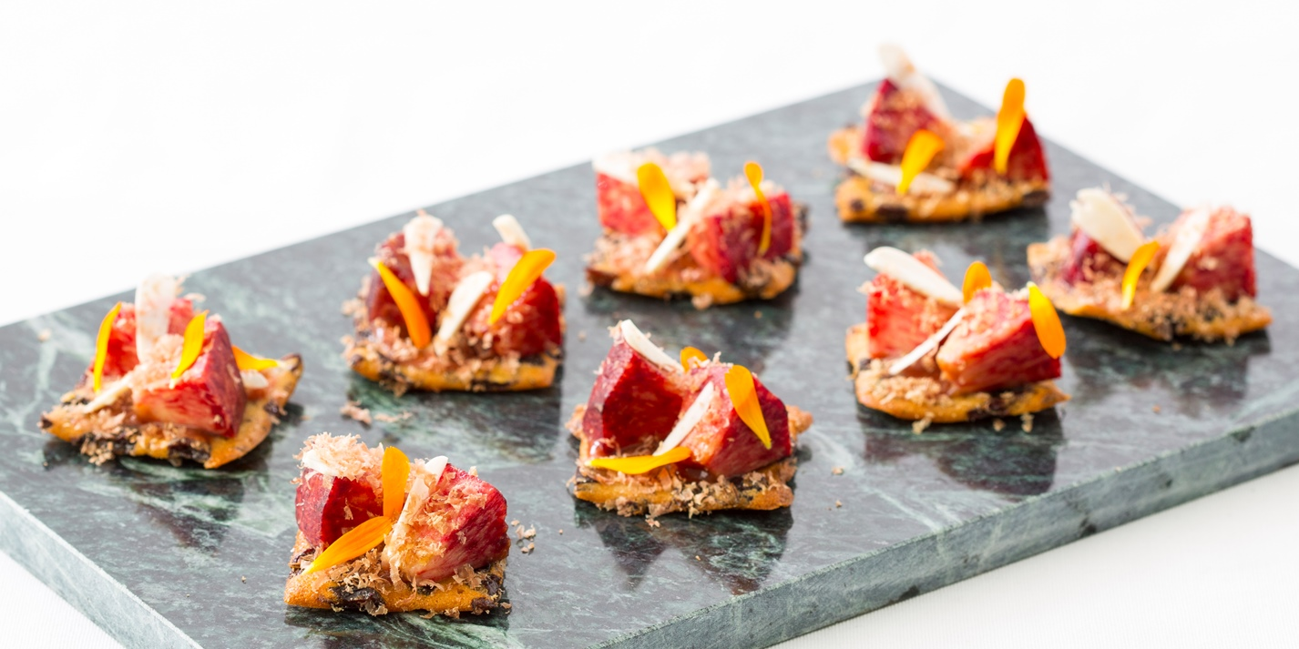 Garibaldi biscuit canap recipe great british chefs for Canape history
