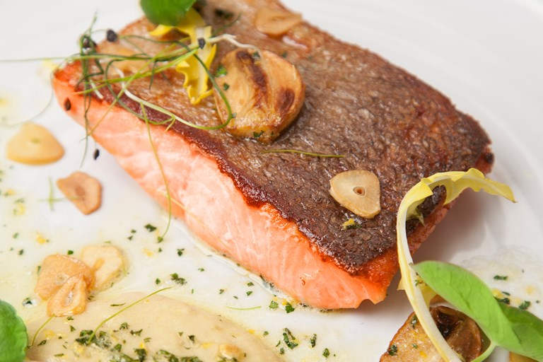 Trout Fillet With Bean Pur 233 E Recipe Great British Chefs