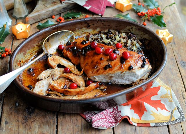 Roast Turkey Breast Recipe with Cranberry Glaze - Great British Chefs