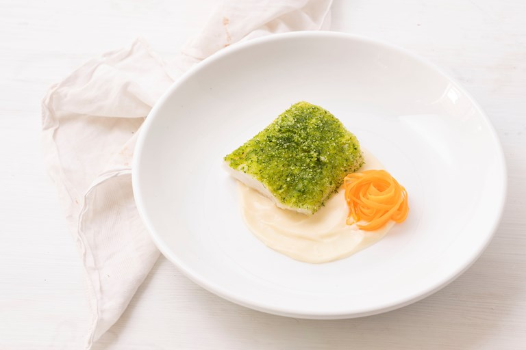 Herb Crusted Cod Recipe With Parsnip Pur 233 E Great British Chefs