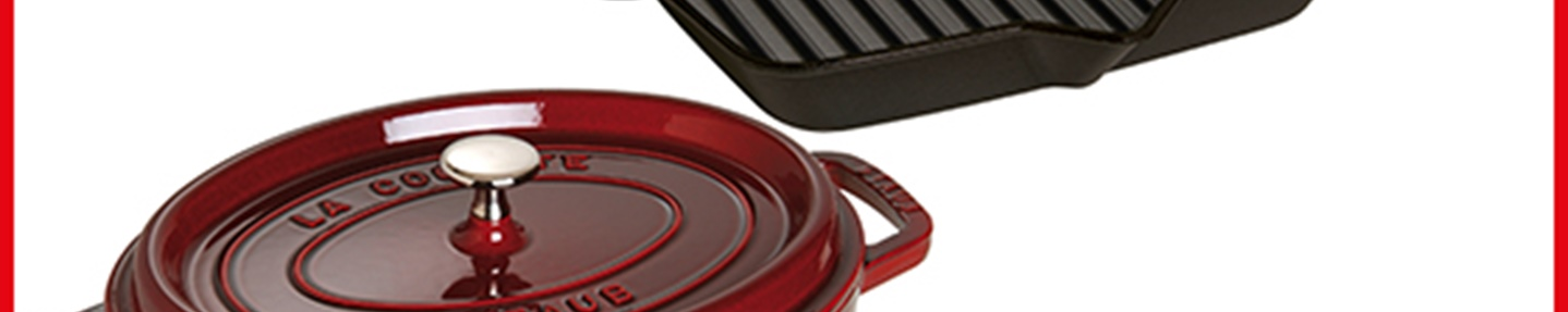 Win Staub cast iron cookware worth over £400
