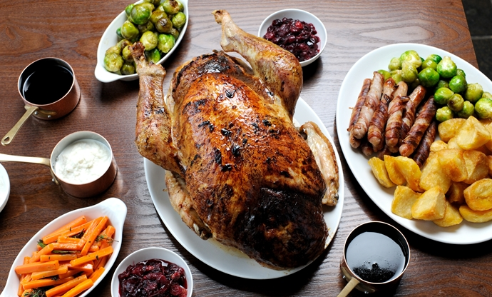 Dominic's roast Bronze turkey with all the trimmings