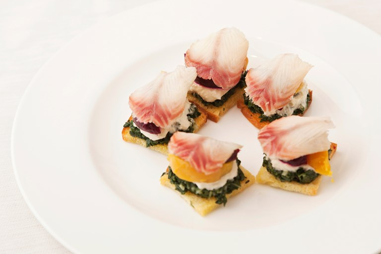 Smoked eel with beetroot recipe great british chefs for Smoked oyster canape