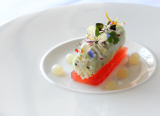 Crab and watermelon