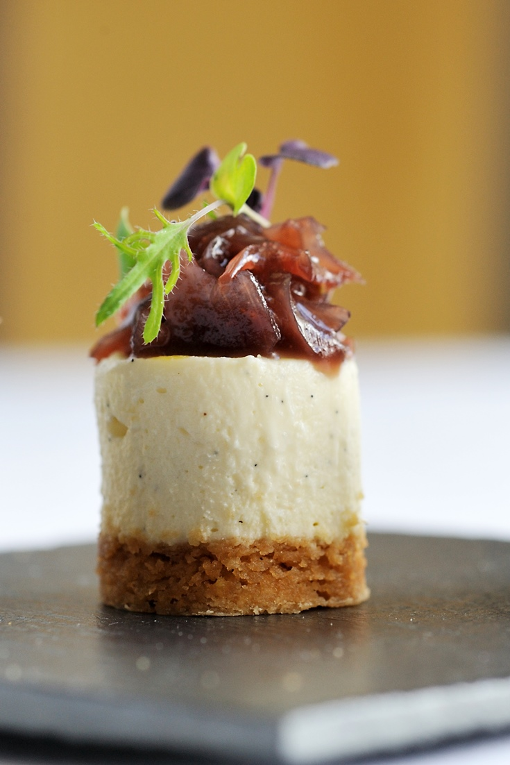 Goats Cheesecake Recipe With Red Onion Jam Great