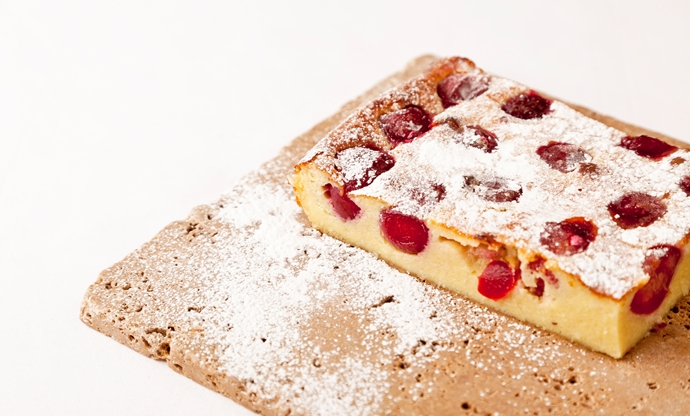 Griotte cherry clafoutis