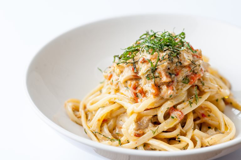 Linguine of Alaska king crab