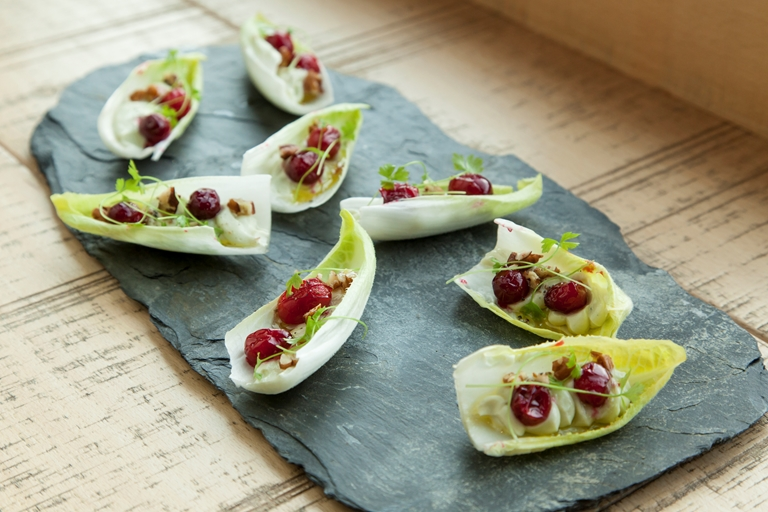 Roquefort and cranberry endives
