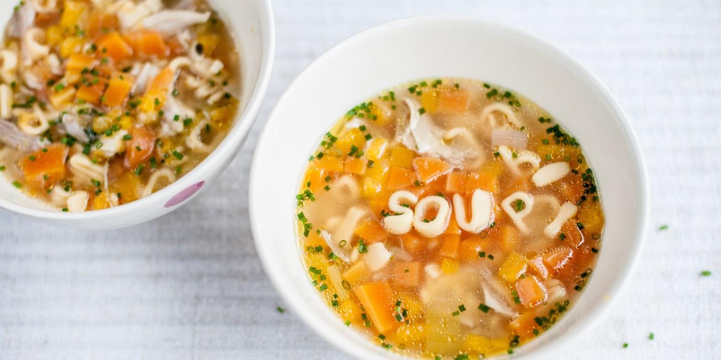 Chicken Soup Recipe & Pasta - Kids Recipes - Great British Chefs
