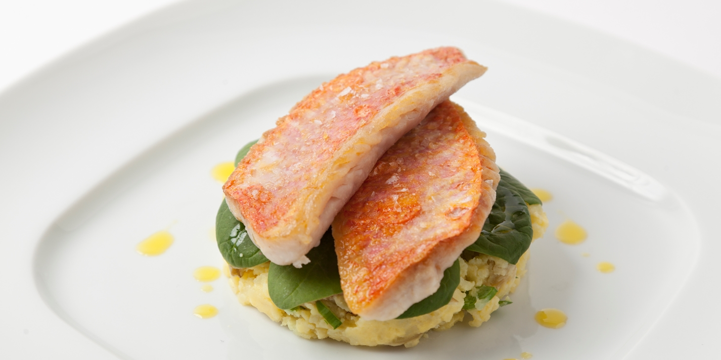 Red Mullet Recipe With Spinach Amp New Potatoes Great